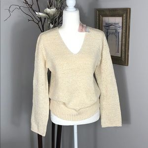 NWT Philosophy, cream/Yellow, lg slv sweater. Med